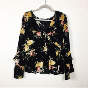 AEO floral print blouse